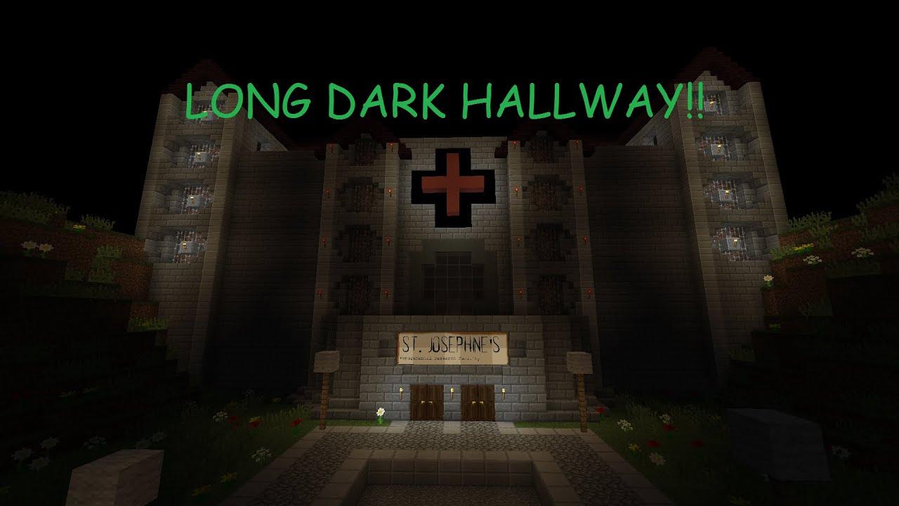 LONG DARK HALLWAY!! | St. Josephineu0027s Hospital Horror Map Ep. 2 | Minecraft