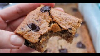 Recipe For Blondies - How To Make Blondies - No Animal Products Nor Regular Flour