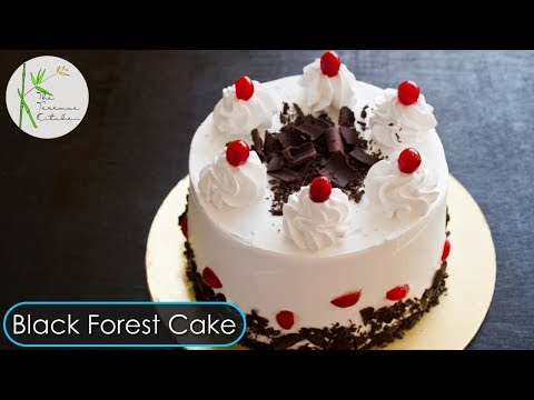 Black Forest Cake In Pressure Cooker | Eggless Black Forest Cake Recipe ~ The Terrace Kitchen
