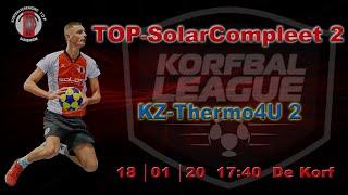 TOP/SolarCompleet 2 tegen KZ/Thermo4U 2, zaterdag 18 januari 2020