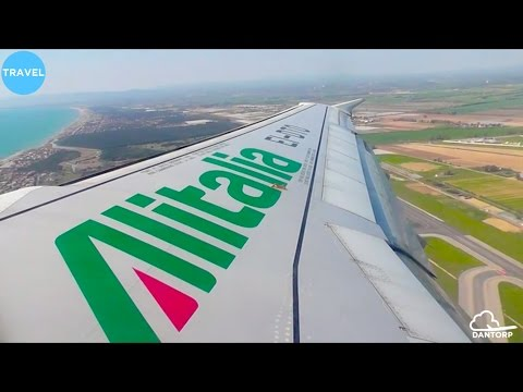 Alitalia A320 Pushback, Taxi and Beautiful Takeoff from Rome Fiumicino!