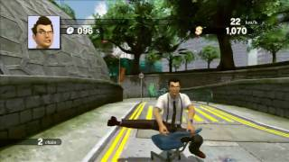 Kung Fu Rider - Escaping by Office Chair Gameplay Movie
