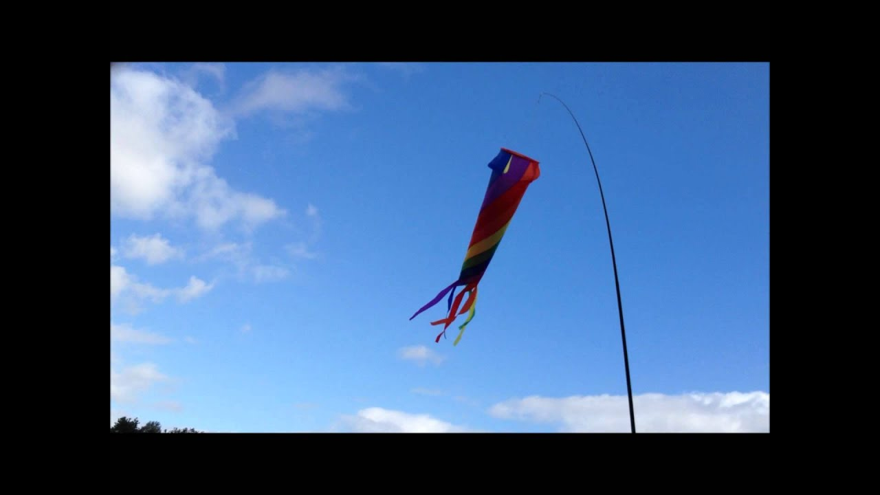Fish Windsock Camping Festivals Blue Rainbow For Telescopic Flag Poles