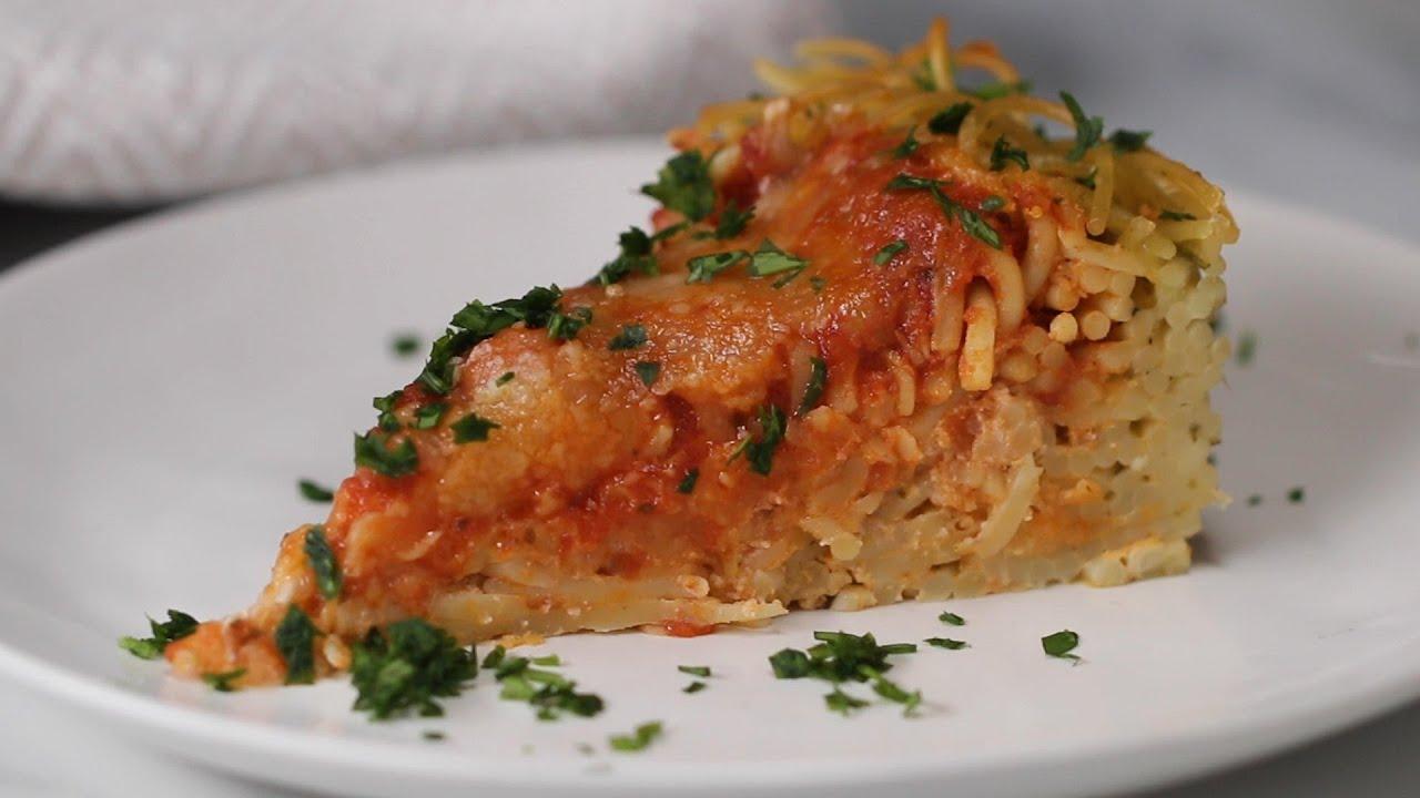 Spaghetti Pie Is A Fun Twist On Italian Comfort Food •Tasty