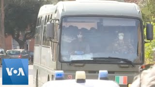Italians Evacuated From Coronavirus Epicenter Wuhan Arrive in Rome