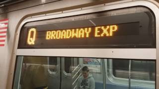 MTA NYC Subway: Rebirth of the (W) Train + Revised (N) (Q) (R) trains at 34 St - Herald Square