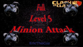 Clash of Clans - Lvl 5 Minions Gameplay