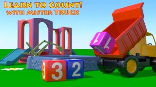 Construction Trucks for Kids - Learn to Count - NUMBERS SCHOOL - Cartoons for Kids