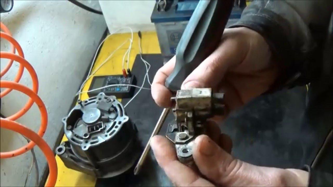 поменял щетки генератора пропала зарядка на холостых мерседес