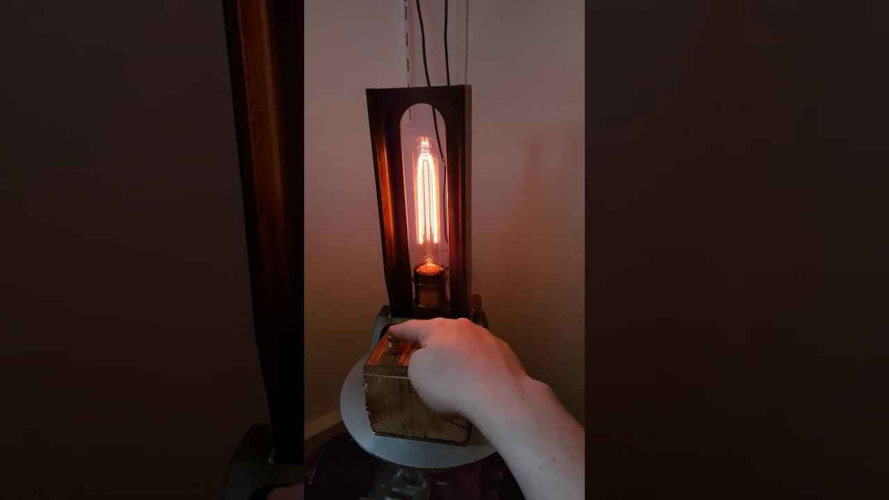 retro edison lampe mit touch dimmer youtube. Black Bedroom Furniture Sets. Home Design Ideas