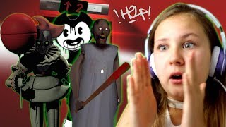SCARY ELEVATOR GAME!! Ruby Rube VS Bendy & the INK MACHINE, GRANNY, Pennywise and MORE