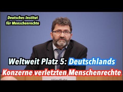 Spitzenplatz: Deutsche Unternehmen verletzten weltweit Menschenrechte