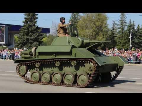 9 мая 2019 года Уфа Парад военной техники времен ВОВ