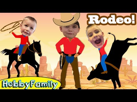 Cowboy RODEO! Riding Bulls N' Horses + Sheep At Fort Worth Stockyards Our First Rodeo  HobbyFamilyTV