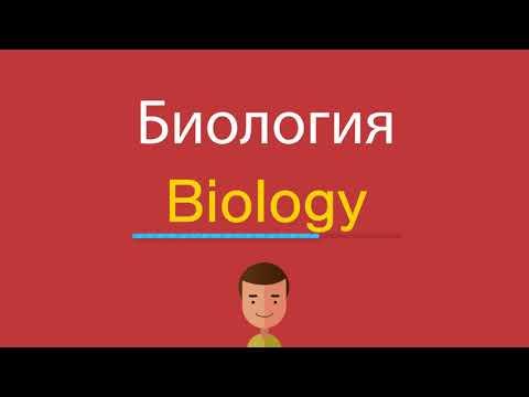 Как написать по английски биология