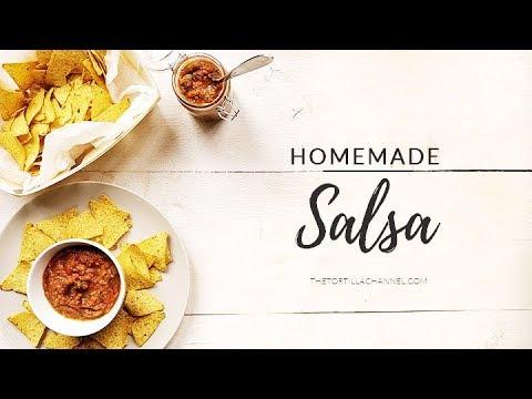 Homemade tomato salsa dip recipe