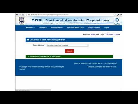 01 Academic Institution Registration - CVL NAD