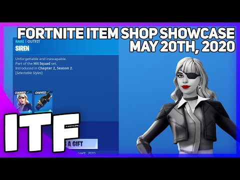 Fortnite Item Shop *NEW* SIREN EDIT STYLE + MUSIC PACK! [May 20th, 2020] (Fortnite Battle Royale)