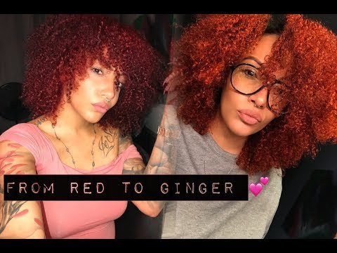 How to: Red to Ginger hair | Adore Orange blaze x Adore Ginger Spice 🔥