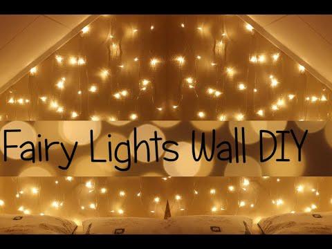 Fairy Lights Wall/Headboard DIY