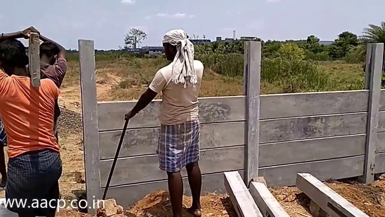Installation Of Precast Concrete Fence Post Diy Youtube
