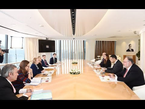 First Vice President Mehriban Aliyeva meets with UK Trade and Export Promotion Delegation