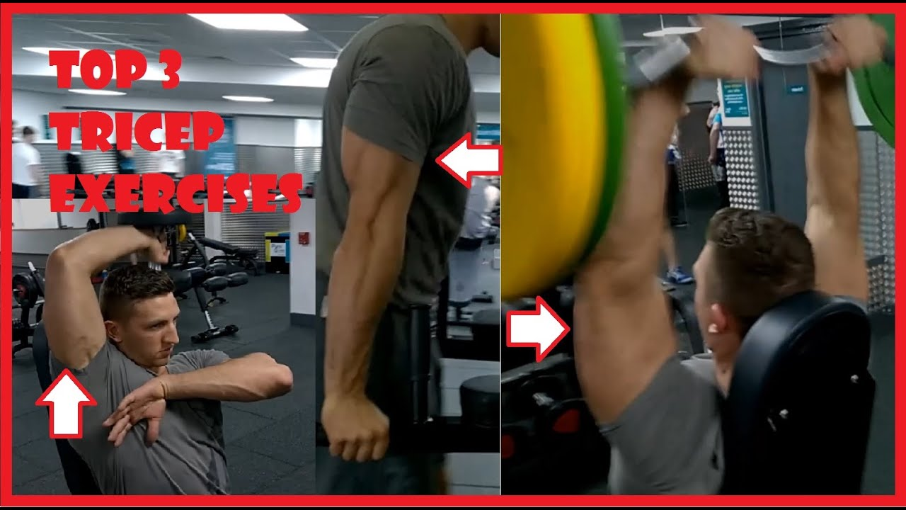 3 Exercises That Hit All 3 Triceps Heads Youtube