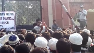 Abdullah Azzam at Protest march against RSS interference in AMU