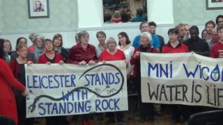 Leicester in Solidarity with Standing Rock - I Am A River
