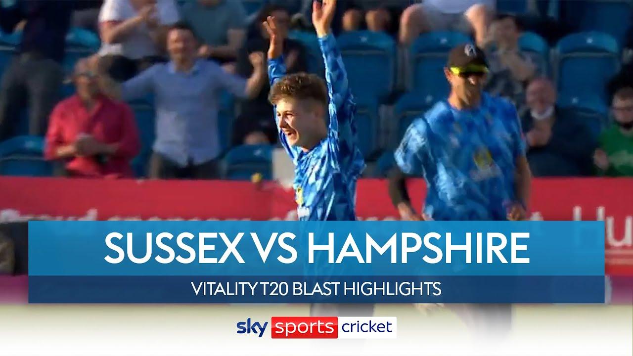 16-year-old legspinner Archie Lenham stars in win! | Sussex vs Hampshire | Vitality Blast Highlights