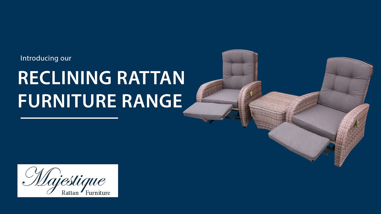 Reclining Rattan Chairs Sets Majestique