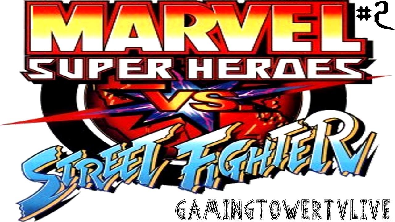 Marvel Super Heroes vs. Street Fighter [PS1] - Gameplay #2 ...