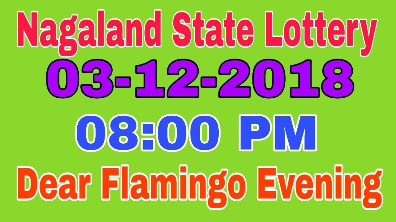 NAGALAND STATE LOTTERIES RESULT 03-12-2018 | DEAR FLAMINGO EVENING RESULT
