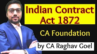 Indian contract act 1872 | CA Foundation | by CA Raghav goel sir
