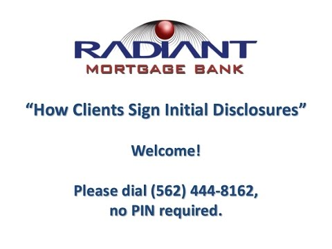 Initial Disclosures Tutorial
