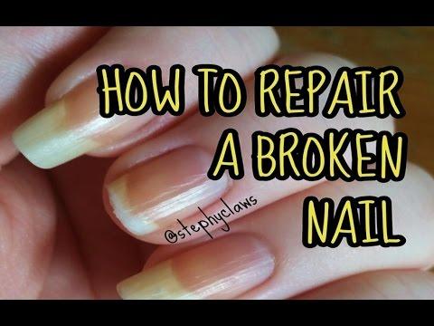 how to fix a broken gel nail