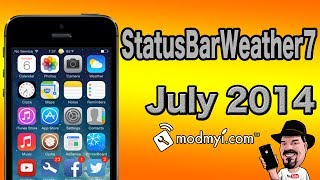 StatusBarWeather7 [FREE] Tweak Add Weather info IN StatusBar