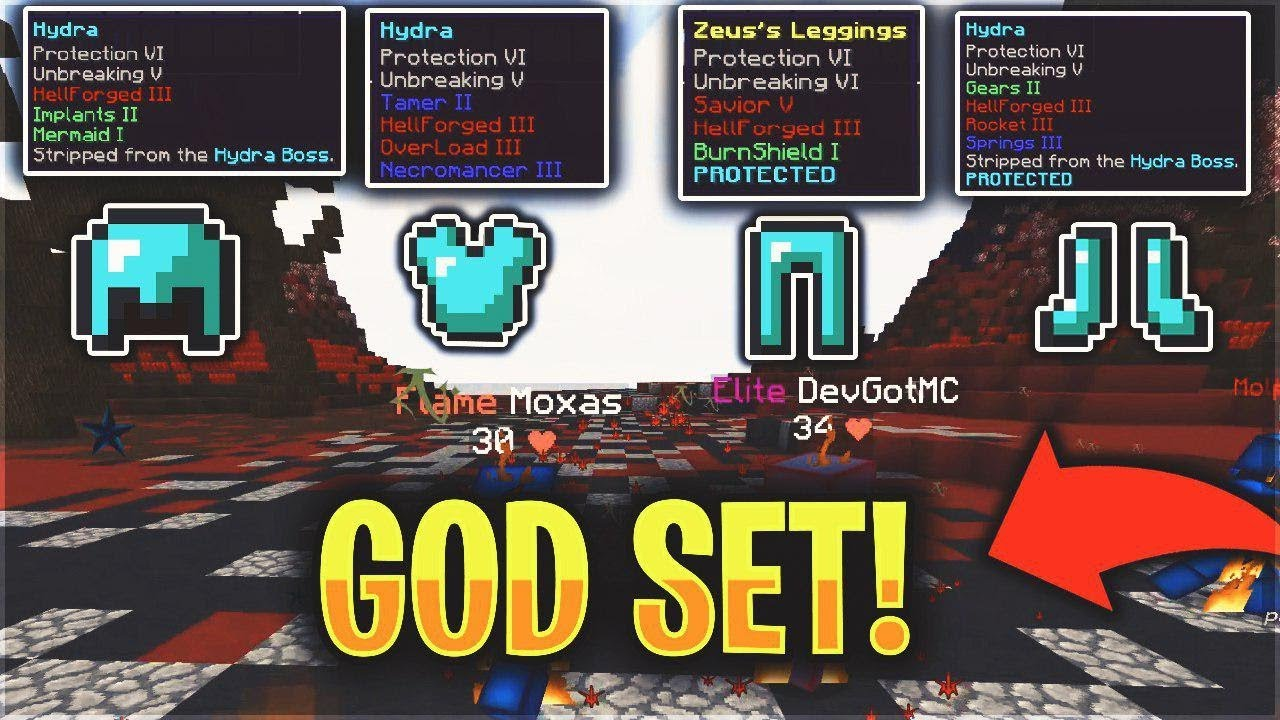 MY *OP* GODSET THE BEST GEAR IN THE GAME  Minecraft PvP