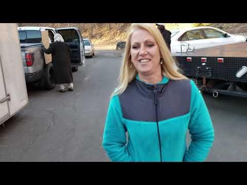 Christie visits the Clint Loren Captain America Donation