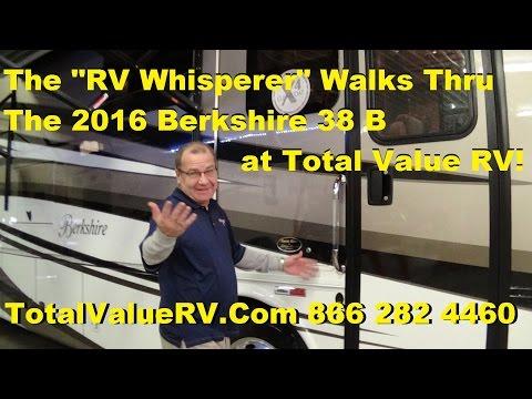 The RV Whisperer Walks Thru The 2016 Forest River Berkshire 38 B Diesel Motor Home!