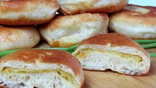Домашние пирожки с картошкой. Очень вкусное тесто ! Рецепты Алины.