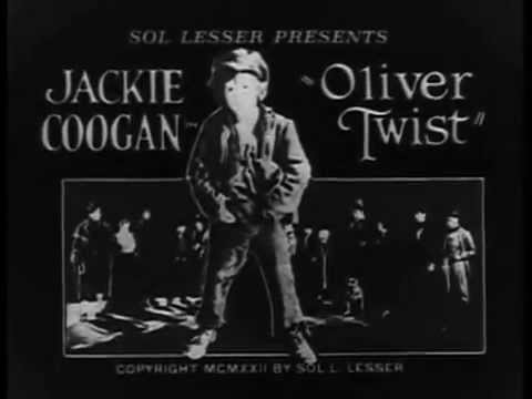 Oliver Twist 1922 Jackie Coogan, Silent