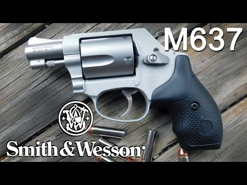 Smith & Wesson M637 Airweight Revolver in  38 SPL +P Review - YouTube