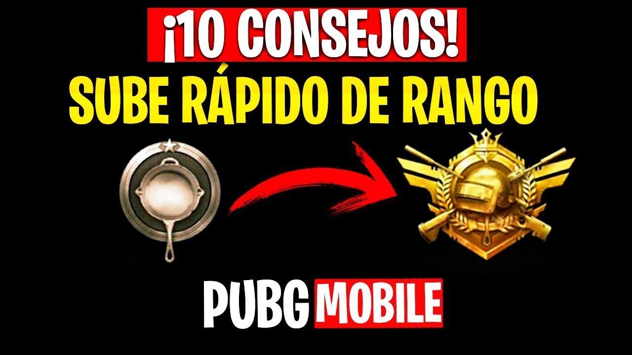 ?¡10 CONSEJOS PARA SUBIR RÁPIDO DE RANGO EN PUBG MOBILE! - MattsinLife