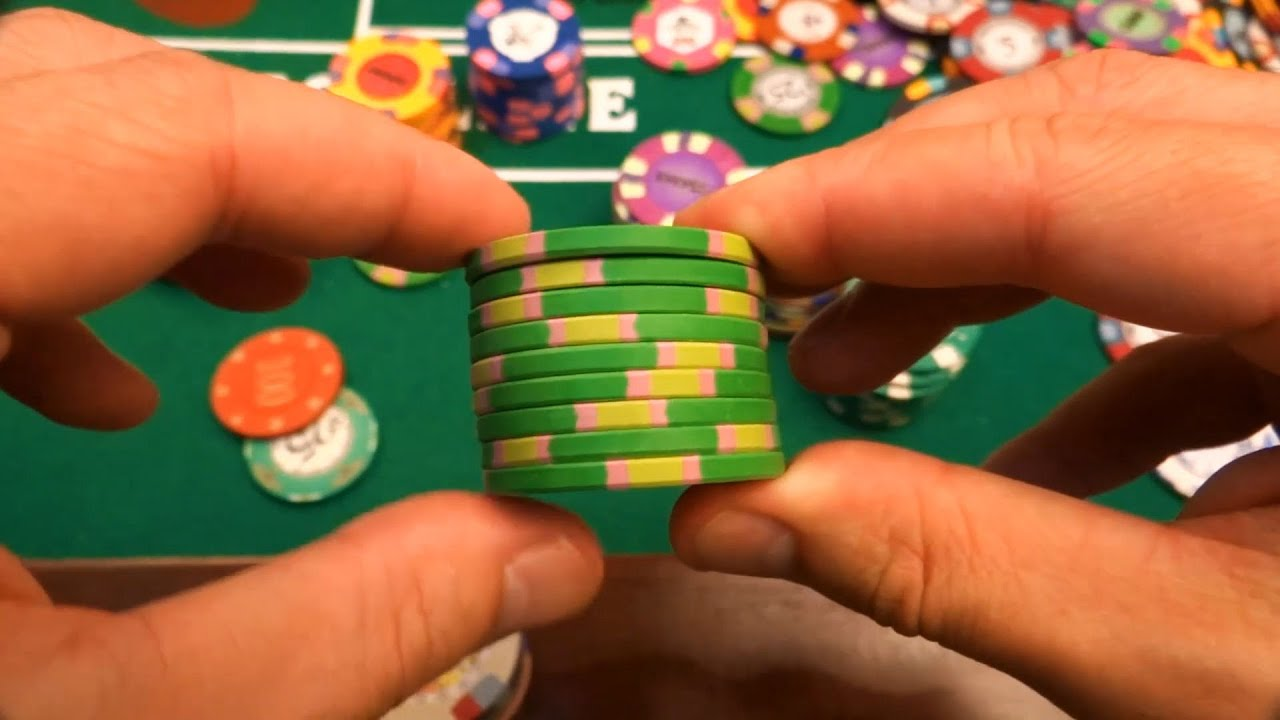 How to fidget with poker chips bridge card game gambling