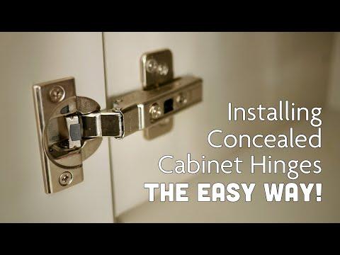 Installing Concealed Cabinet Door Hinges & Handles {The Easy Way!}