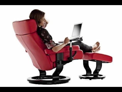 Desk Chair Recliner Backpack Beach Reclining Office Youtube