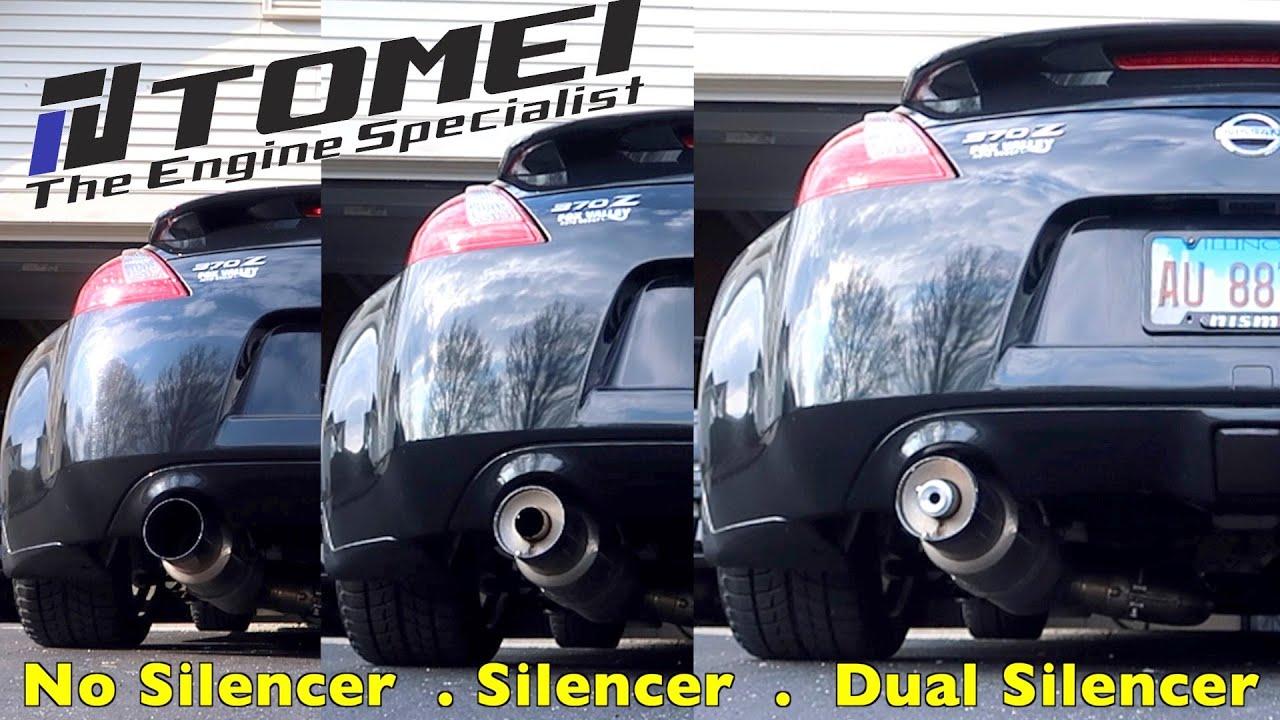 370z tomei expreme ti sound clip no silencer silencer and dual silencer