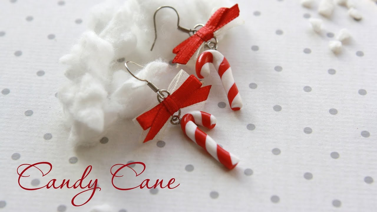 Candy Cane Earrings  Fimo Tutorial