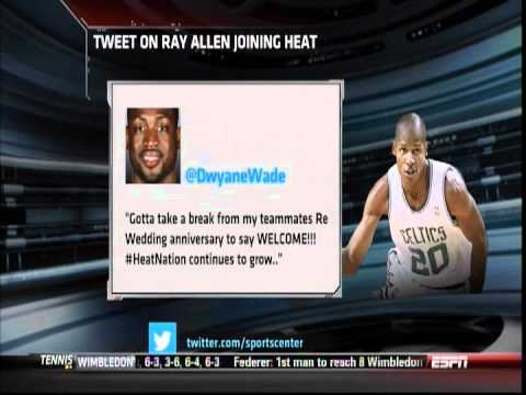 July 06, 2012 - ESPN - Ray Allen Agrees to Sign With The Miami Heat
